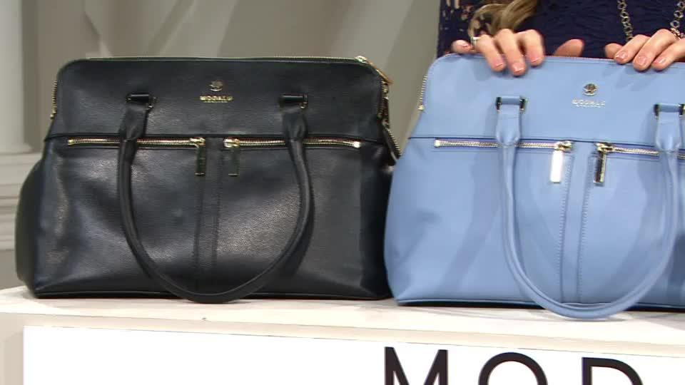 87365274ce Modalu England Classic Pippa Pebble Leather Handheld Bag. Back to video.  On-Air Presentation