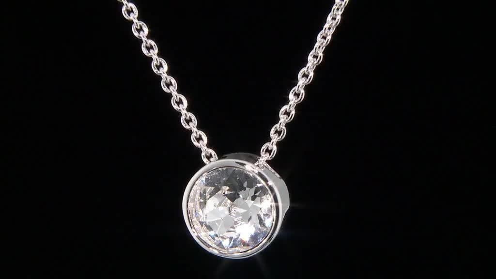 7595a21060b9 Outlet Aurora Swarovski Crystal Initial Charm 52cm Necklace - Page 1 ...