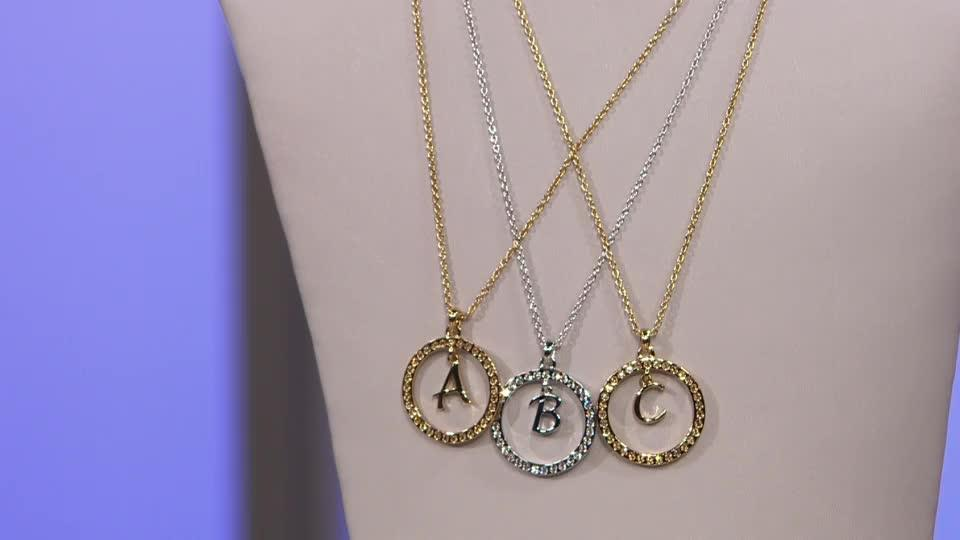 bef75b413985 Outlet Aurora Swarovski Crystal Halo Initial 52cm Necklace. Back to video.  On-Air Presentation