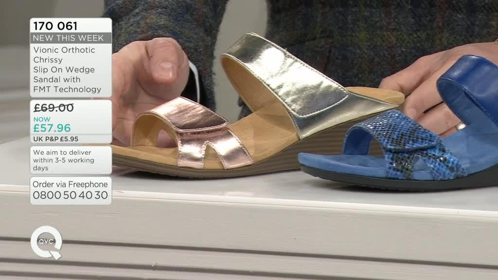 c7ef0ce15f06 Vionic Orthotic Chrissy Slip On Wedge Sandal with FMT Technology ...