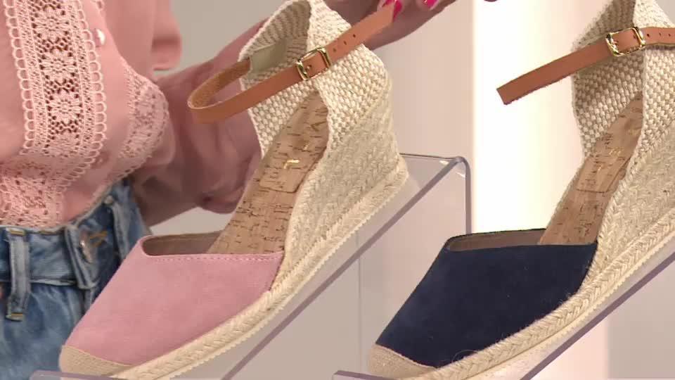 9791835b1c94 Ravel ETNA 2 Part Espadrille Sandal with Ankle Strap. Back to video. On-Air  Presentation
