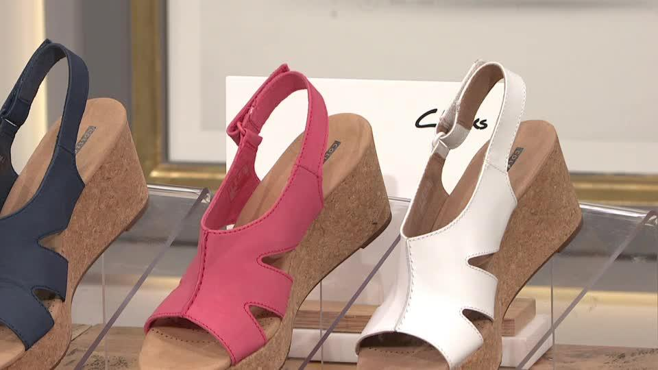 720e44380022 Clarks Annadel Bari Wedge Sandal Standard Fit. Back to video. On-Air  Presentation