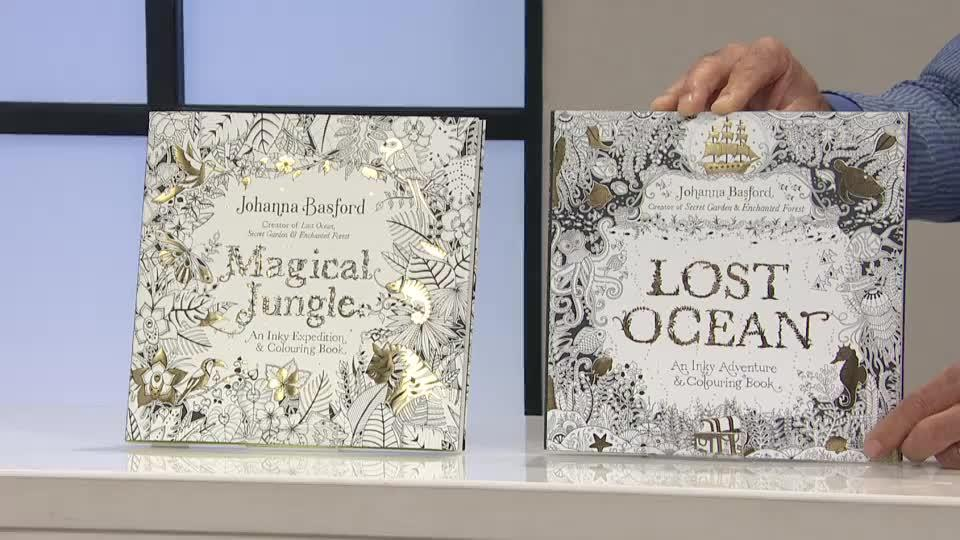 Johanna Basford Lost Ocean Magical Jungle Colouring Books Back To Video On Air Presentation