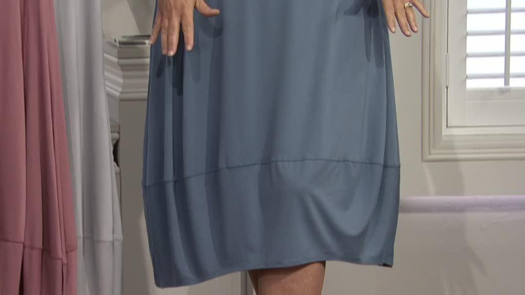 ef79d0d5188e7a MarlaWynne Sleeveless Jersey Boat Neck Balloon Dress. Back to video. On-Air  Presentation