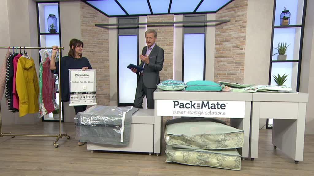 On-Air Presentation & Pack Mate 6 Piece Wardrobe Vacuum Bag Storage Set with Organiser ...