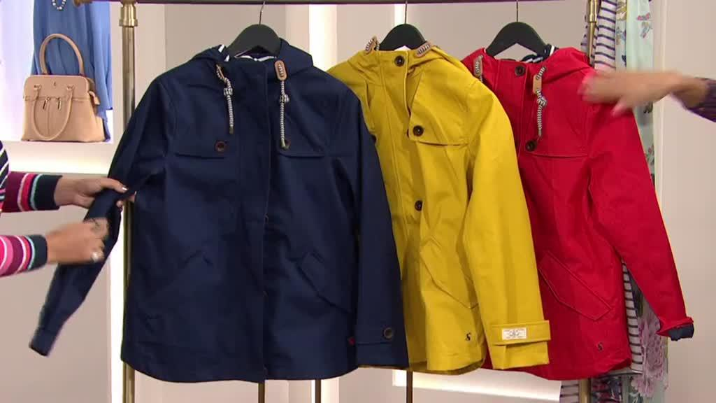 bc80655e6b9 Joules Coast Waterproof Hooded Jacket. Back to video. On-Air Presentation