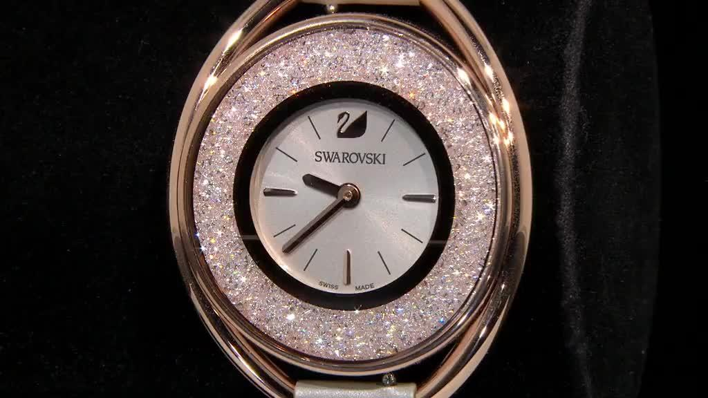 Swarovski Crystalline Oval Watch - QVC UK 8a18b5682d