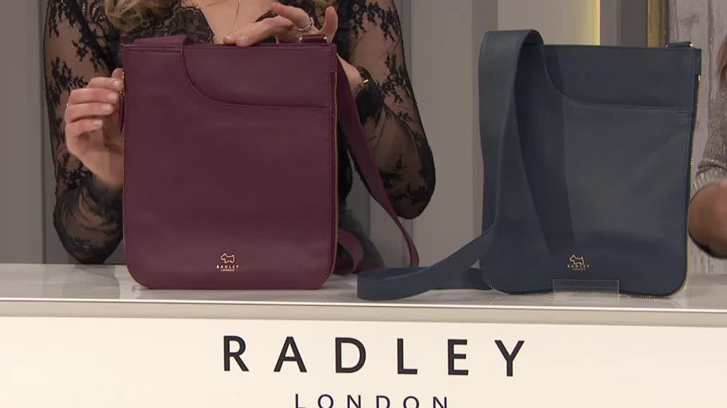 Radley London Pockets Medium Leather Zip Top Crossbody Bag. Back to video.  On-Air Presentation 79037d4ce3c11
