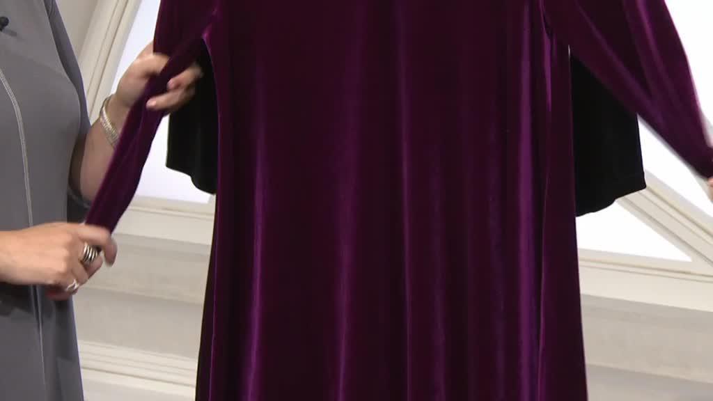81018606d00 Velvet Trapeze Dress by Nina Leonard. Back to video. On-Air Presentation