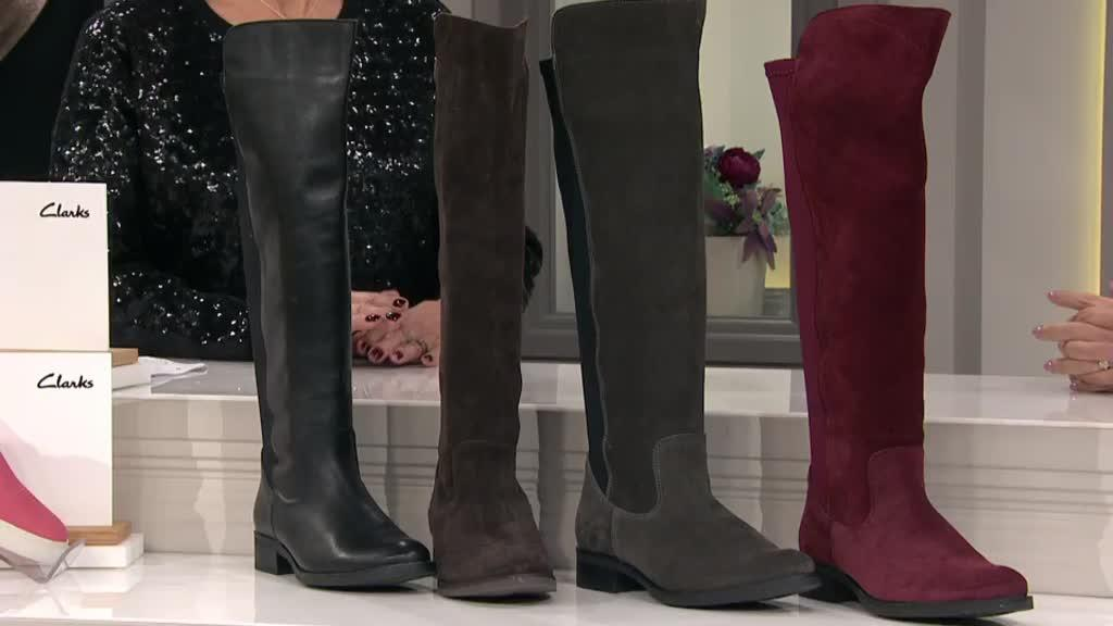 Clarks Melissa Leather Knee High Boot
