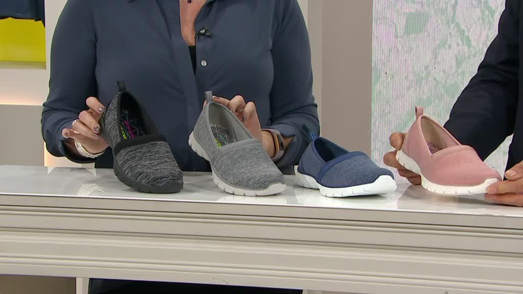 ee81aa5a1884 Skechers EZ Flex Swift Motion Heathered Jersey Slip On Shoe. Back to video.  On-Air Presentation