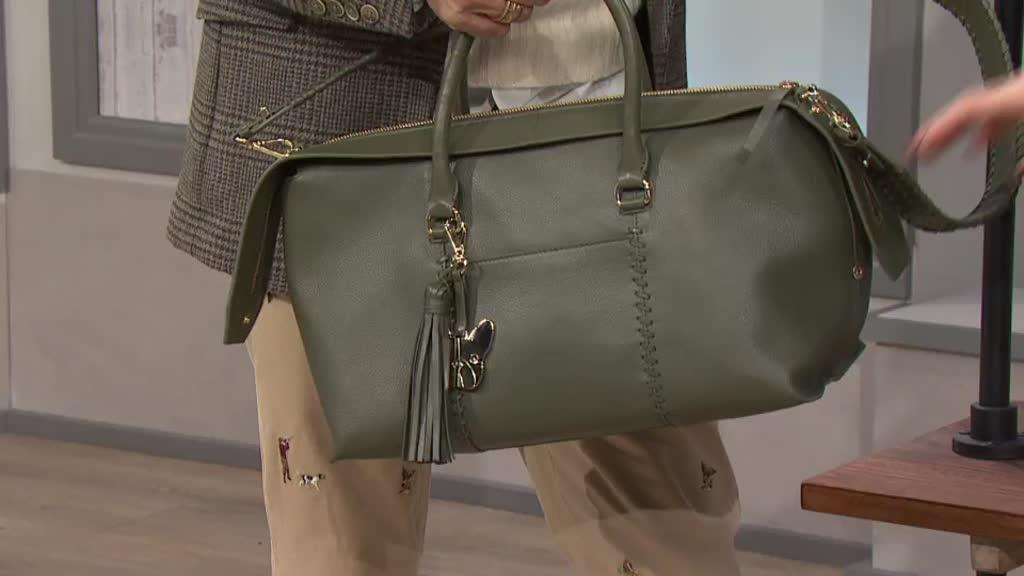 c506141b01a15 Ben de Lisi Leather Montauk Large Tote. Back to video. On-Air Presentation
