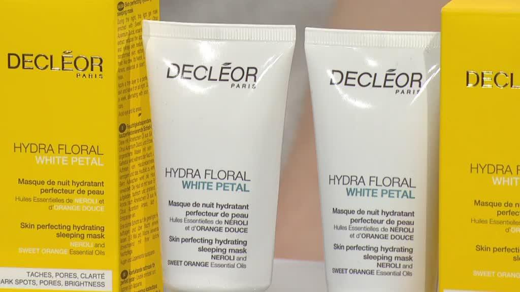 a28f916f1 Decleor Hydra Floral White Petal Sleep Mask Duo. Back to video. On-Air  Presentation