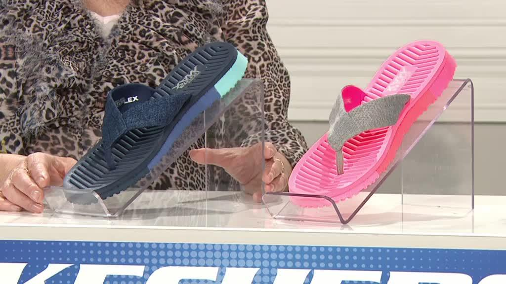 dab756ca945 Skechers GO FLEX 3 Solana Perforated Heathered Mesh Point Sandal. Back to  video. On-Air Presentation