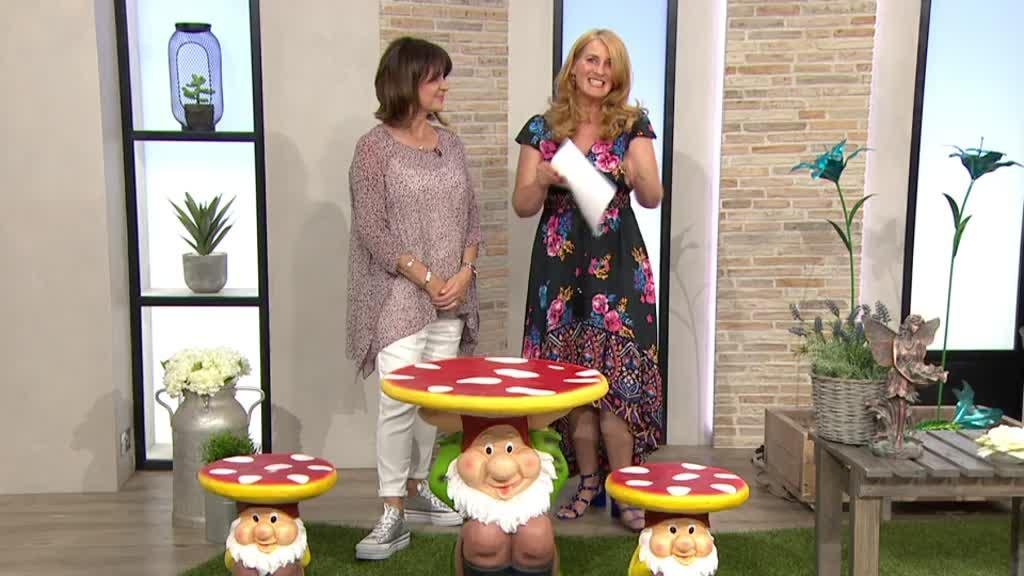 Remarkable Home2Garden Garden Gnome Stool Qvc Uk Gmtry Best Dining Table And Chair Ideas Images Gmtryco