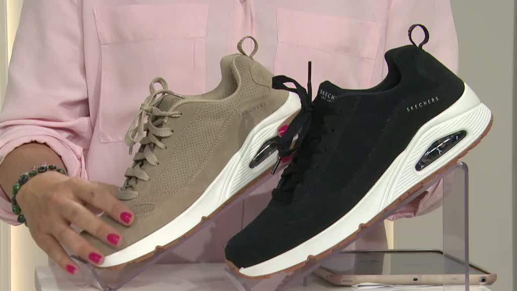 Skechers Mens Street Uno Lace Trainers QVC UK