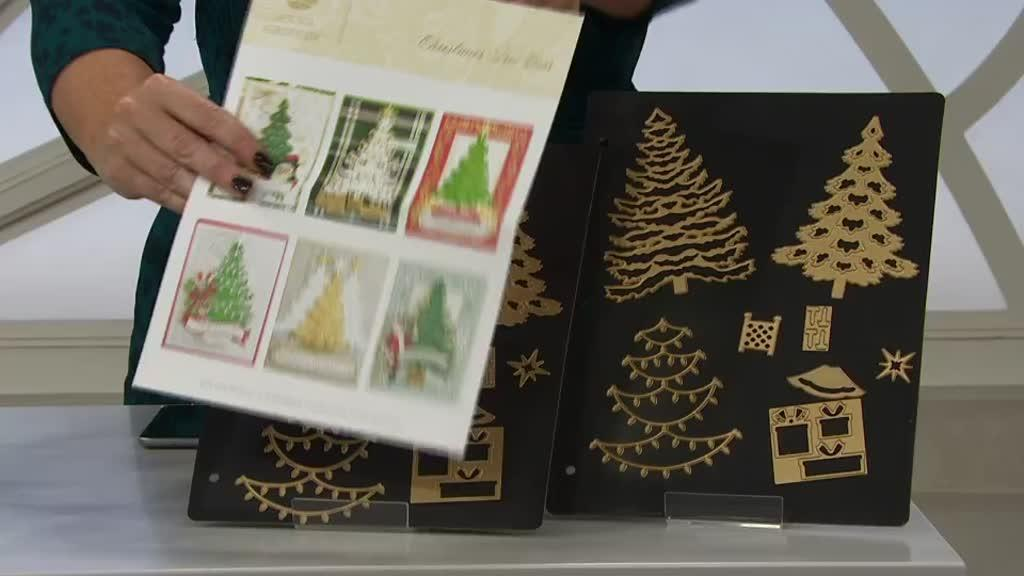 Anna Griffin Set Of 8 Christmas Tree Dies Qvc Uk