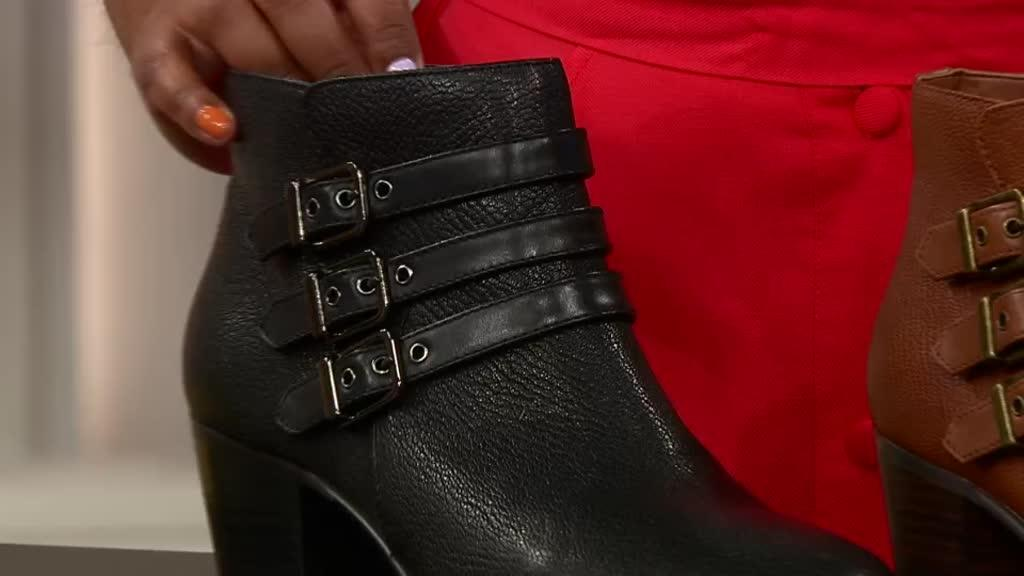 Details about  /Ladies Clarks Maypearl Rayna Black Leather Smart Mid Heel Ankle Boots D Fitting