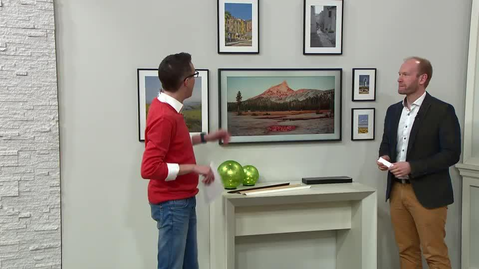 SAMSUNG THE FRAME 108cm UHD LED-TV Bilderrahmen-Design inkl. Kunst ...