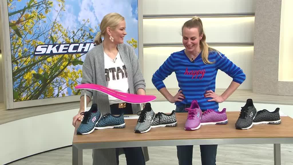 Damenschuhe Skechers 38 Sneakers Pink Durchsichtig In Sicht Kleidung & Accessoires