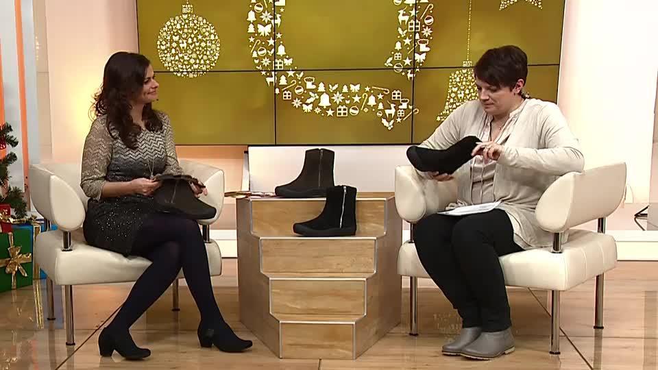 324a33784a9b28 SALAMANDER Damen-Stiefel Veloursleder Reißverschluss Lammfell-Futter.  Zurück zum Video. TV-Präsentation