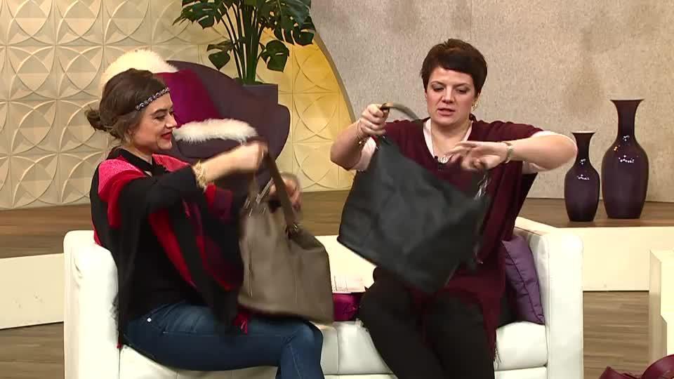 1b64205752 VIA MILANO Beuteltasche echt Leder herausnehmbare Innentasche. Zurück zum  Video. TV-Präsentation